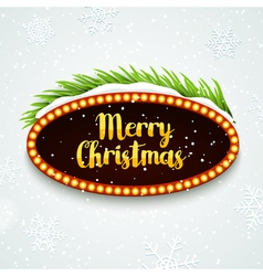Christmas Party retro sign poster design template vector image
