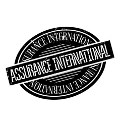 Assurance international rubber stamp vector