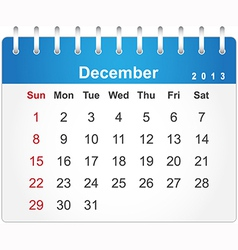 Stylish calendar page for december 2013 vector