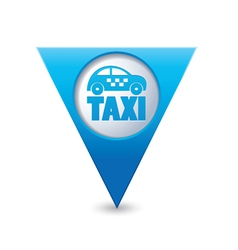 taxi icon map pointer5 blue vector image