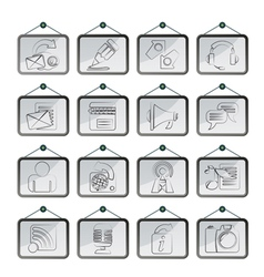 communication and social network icons vector image