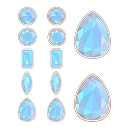Set of five forms of moonstone vector