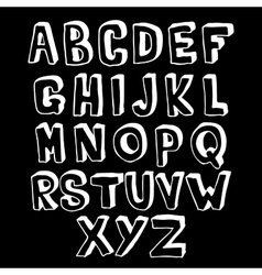 Black and white alphabet volume vector