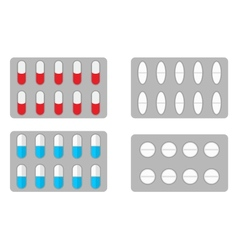 Packs of pills vector
