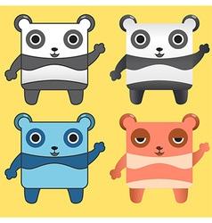 Gang panda vector