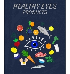 Eye health products vector