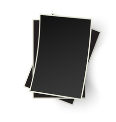 Pile of old photo frames isolated on white vector