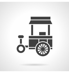 Street food trade cart glyph style icon vector