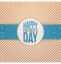 Paper graphic element for fathers day vector