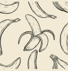 Background with bananas vector
