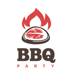Barbecue or grill party icon of bbq for vector