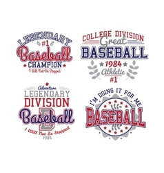 Baseball varsity set vector