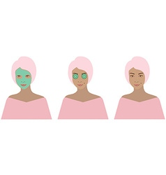 Beauty set vector image vector image