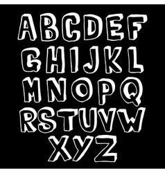 Black and white alphabet volume vector image