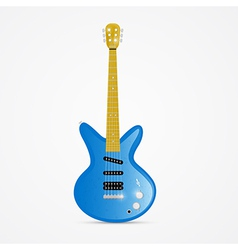 Blue Electric Guitar Isolated on White Background vector image