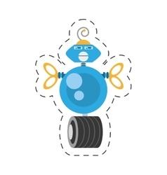 Blue robotic antenna communication mechanical vector