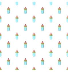 Bottle with nipple pattern cartoon style vector
