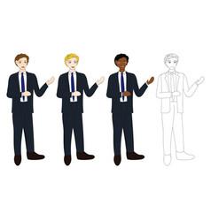 Business man presentation vector