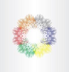 color explosion fireworks background vector image