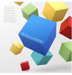 construction concept with 3d cubes vector image vector image