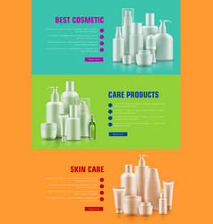 Cosmetic container poster vector