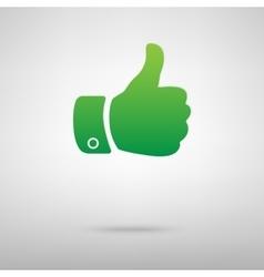 Hand green icon vector