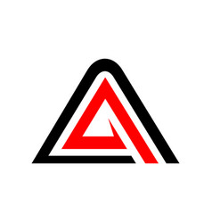 Initial a accelerate triangle symbol graphic vector