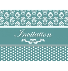 Invitation card or postcard vector image