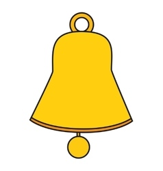 Isolated bell of christmas season design vector