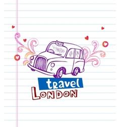 London cab vector image vector image