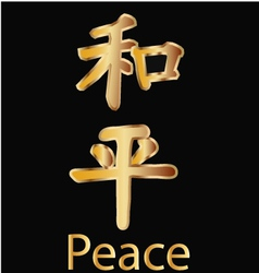 Peace Chinese word vector image vector image