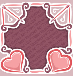 poster for happy valentines day vector image vector image