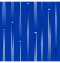 seamless planes vector image