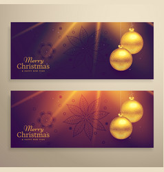 Set of two beautiful christmas festival banners vector
