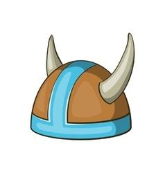 Swedish viking helmet icon cartoon style vector
