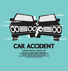 Two Cars In An Accident vector image vector image