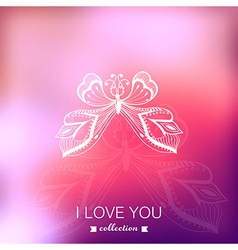 Valentines Day background Blurred template holiday vector image