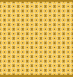 Yellow and brown seamless abstract mechanic cell vector