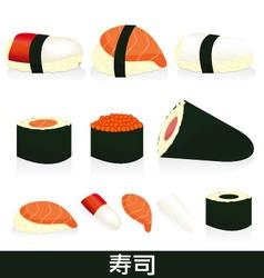 sushi set vector image