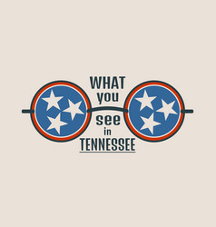 state of tennessee flag and text vector image