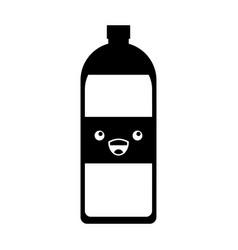 Soda bottle kawaii character vector