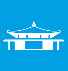 Temple icon white vector