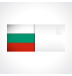 Envelope with bulgarian flag card vector