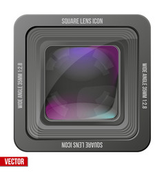 The square icon photography or video lens vector