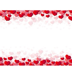 Valentines day card with scattered hearts vector