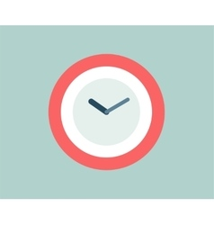 Red clock icon isolated watch objects or vector