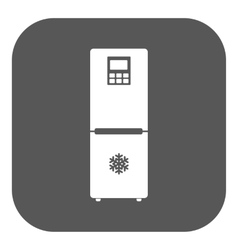 The icebox icon fridge and refrigerator symbol vector