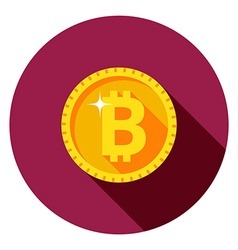Gold coin the flat style vector