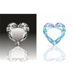 Heart-shaped diamond vector