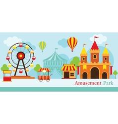 Amusement park carnival fun fair vector